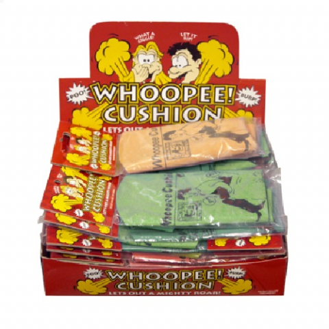 24 x Small Whoopee Cushion - Farting Classic Jokes Collection - Wholesale Box